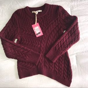 Chelsea & Violet chunky cable-knit sweater
